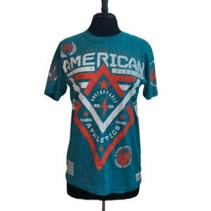 American Fighter by Affliction Teal T-Shirt Size S